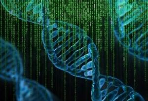 Supplements for ADHD Adults - UMP - DNA Strands over Matrix Code